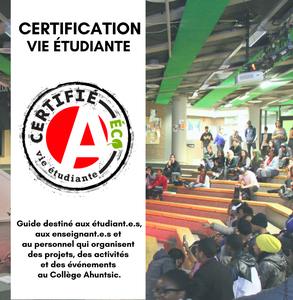 Certification vie étudiante